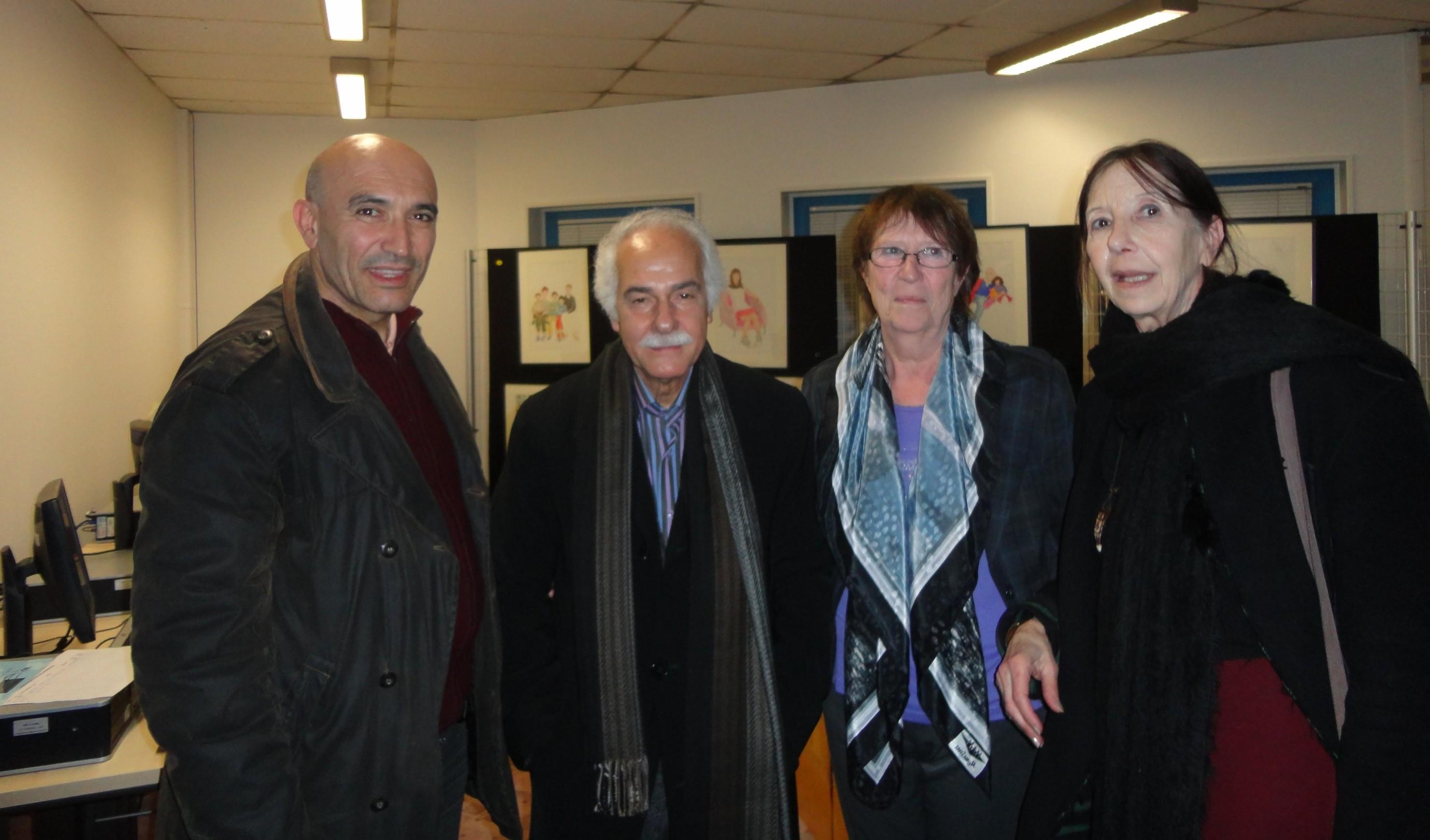 Toufik Hedna, Abdelatif Lâabi sa femme et Nadia Ragonnet
