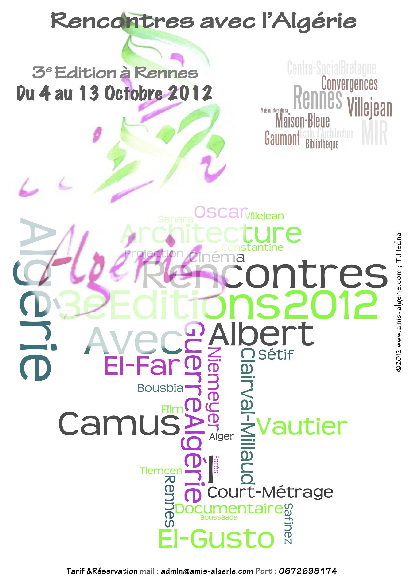 3ème édition du festival Franco-Algérien à Rennes.